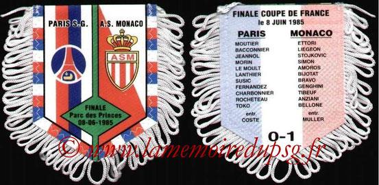 Fanion PSG-Monaco 1984-85