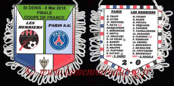Fanion  Les Herbiers-PSG  2017-18