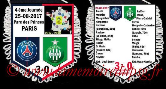 Fanion  PSG-Saint Etienne  2017-18