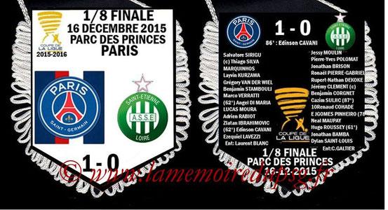 Fanion  PSG-Saint Etienne  2015-16
