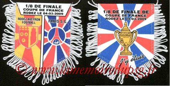 Fanion  Rodez-PSG  2008-09