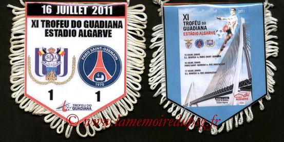 Fanion  Anderlecht-PSG  2011-12