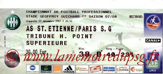 Ticket  Saint Etienne-PSG  2007-08