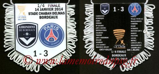 Fanion  Bordeaux-PSG  2013-14