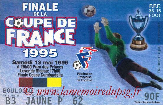 Ticket  PSG-Strasbourg  1994-95