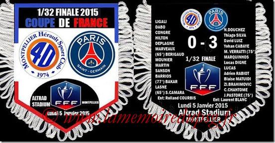 Fanion  Montpellier-PSG  2014-15