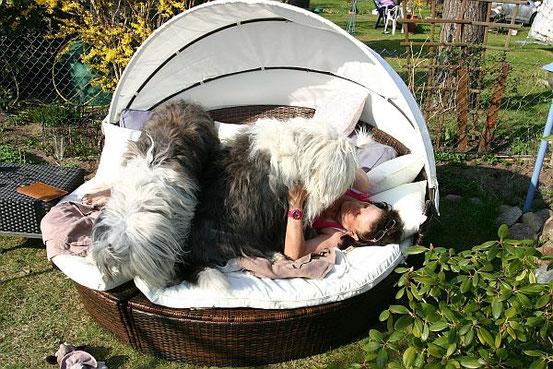 ... aber auch die Hundemutti mit Paula & Susu.
