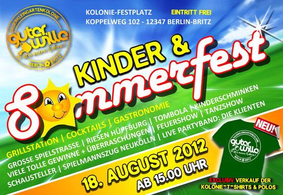 Das Sommerfestplakat 2012