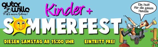 Der Banner-Entwurf zum Sommerfest