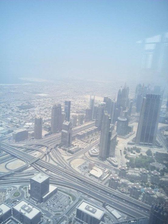 Verkehrsknotenpunkt in Dubai.