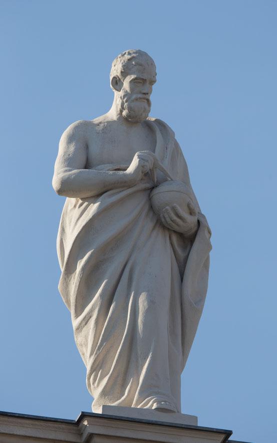 Empedokles auf der Attika des Naturhistorischen Museums, Wien, Friedrich Beer