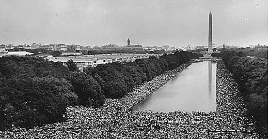 Der Marsch auf Washington während der Bürgerrechtsbewegung.
