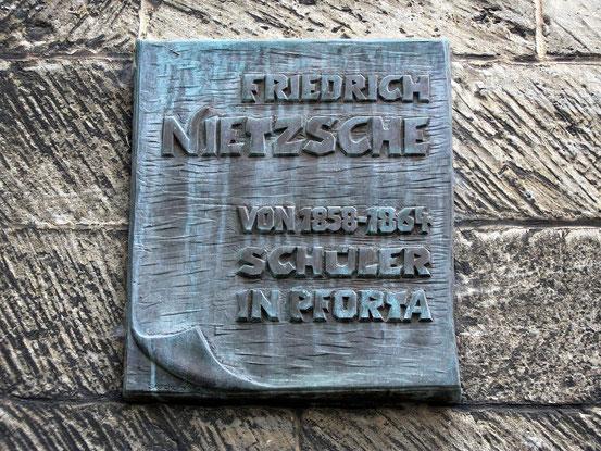 Nietzsche-Gedenktafel an derLandesschule Pforta