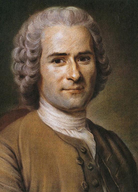 Jean-Jacques Rousseau, Pastell von Maurice Quentin de La Tour, 1753