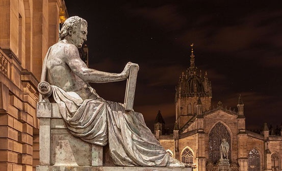 Statue von David Hume