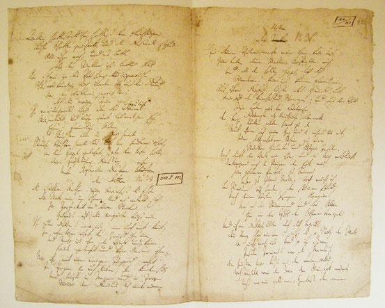Hölderlin, Der Tod des Empedokles. Seiten aus einem Manuskript des Autors