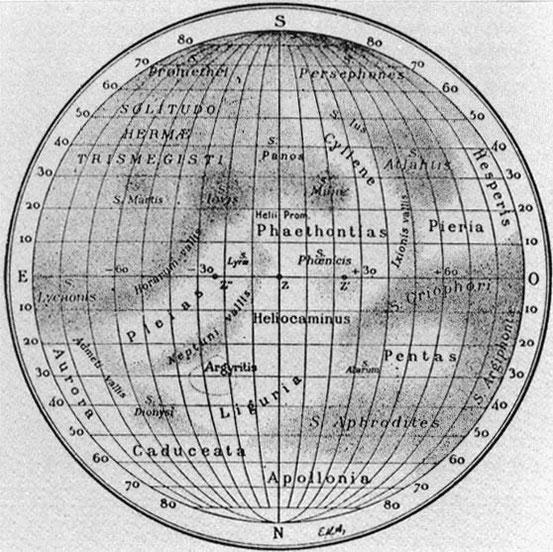 Merkurkarte von Eugène Michel Antoniadi, 1934
