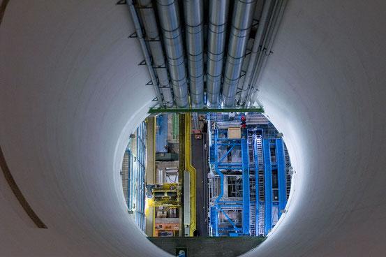 Der ATLAS-Teilchendetektor am Large Hadron Collider (LHC)