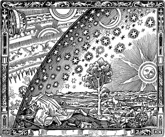 """""""Flammarions Holzstich"""", unbekannter Künstler"""