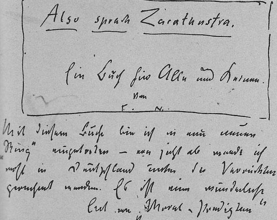 Nietzsche kündigt Heinrich Köselitz den Titel seines neuen Buchs an.