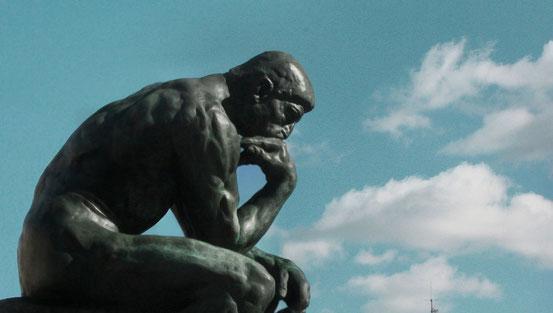 """""""Der Denker"""" von Auguste Rodin."""