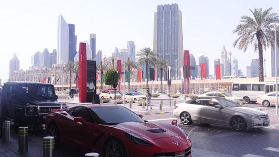 Vor dem Eingang zur Dubai-Mall.