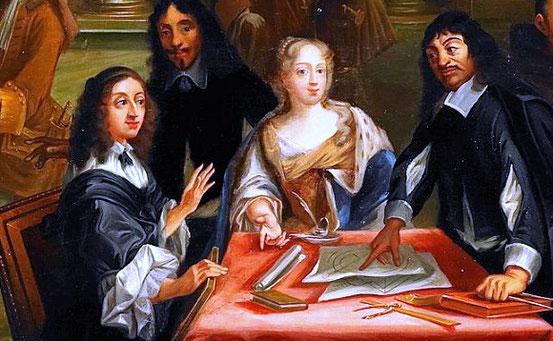 René Descartes diskutiert mit Christina von Schweden.