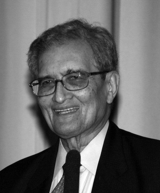 Amartya Sen während einer Vorlesung an der Universität zu Köln 2007 anlässlich der Verleihung des Meister-Eckhart-Preises