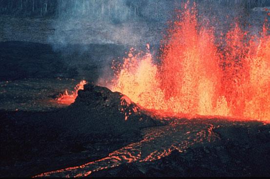 Der Vulkanismus hatte wesentlichen Einfluss auf die Entwicklung der Atmosphäre.