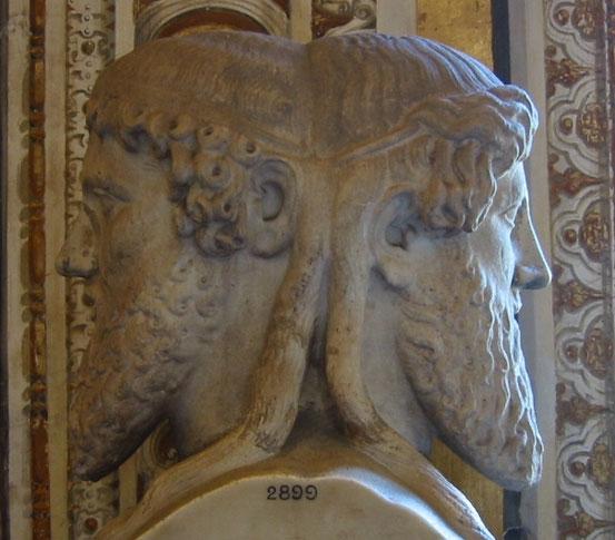 Der doppelköpfige Janus – römischer Gott der Zeit, von Anfang und Ende – ist ein sehr altes Symbol des Dualismus