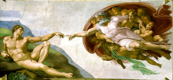 The Creation of Adam (public domain)