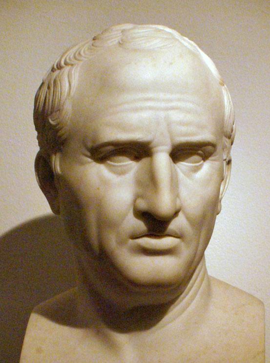 Cicero. Porträtbüste von 1799 nach einem römischen Original