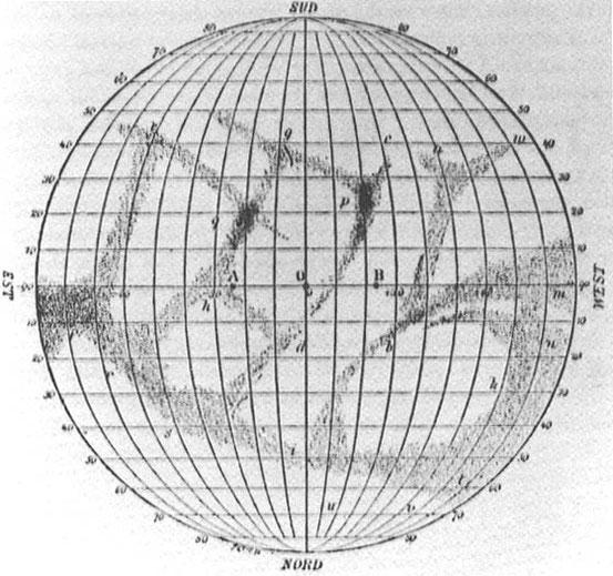 Merkurkarte von Giovanni Schiaparelli