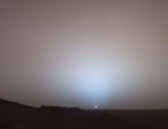 Die Dichte der Atmosphäre am Mars beträgt heute weniger als ein Hundertstel der irdischen.