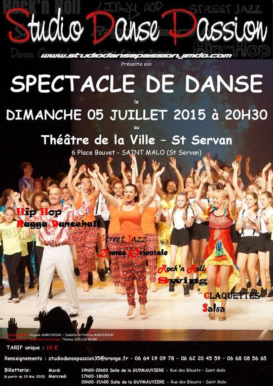 Affiche Spectacle Dimanche 05 Juillet 2015