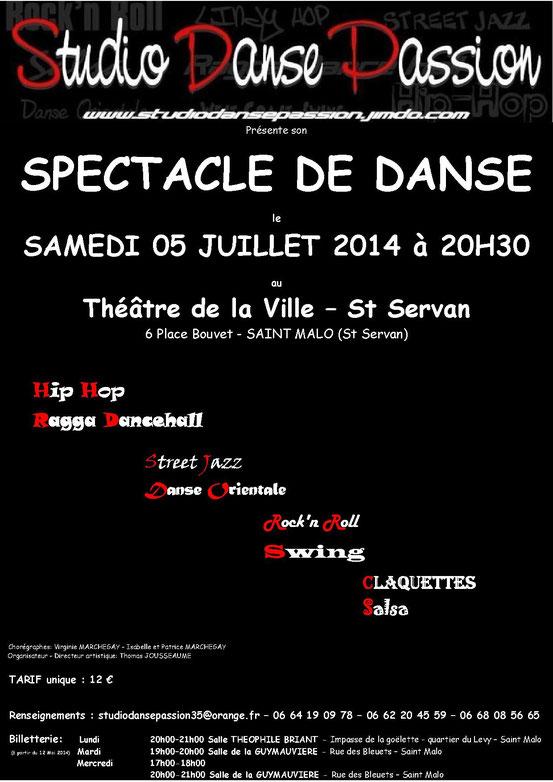 Affiche Spectacle 05 Juillet 2014