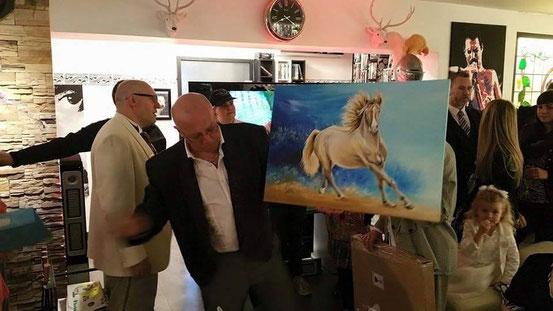 Geburtstagsgeschenk für Reiter, Pferdegemälde