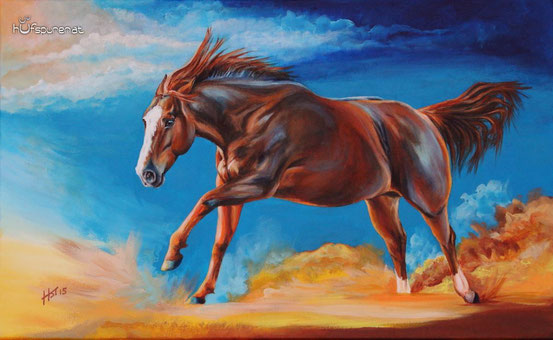 """Lonesome Surprise"", Acryl auf Leinwand, 68x42"