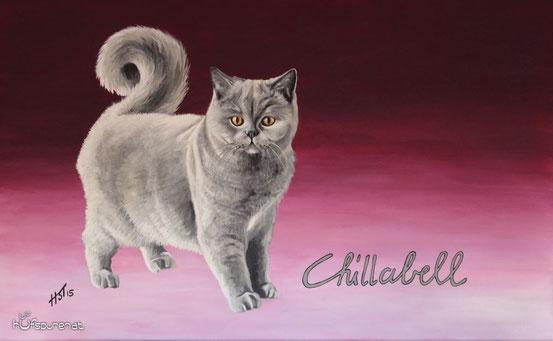 """Chillabell"", Acryl auf Leinwand, 68x42"