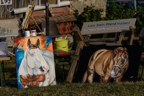 """Zwei noch nicht ganz fertiggestellte Pferdegemälde: """"King Bars Dee Vicky"""" und """"I Am A Ruf Boy"""", davon wird bald mehr zu sehen sein! www.hufspuren.com"""