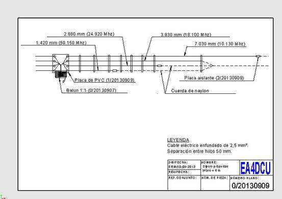 Antena para las bandas WARC mas los 6 metros