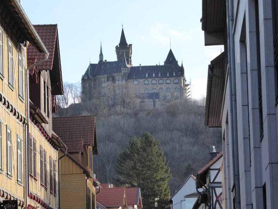 Da oben liegt das Schloß in Wernigerode