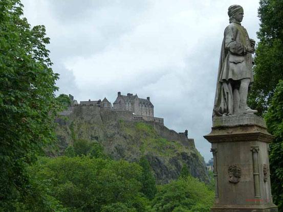 Das Castle von der Stadt aus gesehen