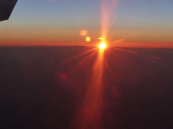 Sonnenuntergang in den Lüften