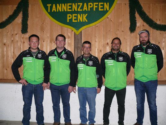 v.l.n.r. Manuel Ramsauer, Theo Eisenried, Rainer Kammermeier, Robert Meindl, Andreas Hurzlmeier