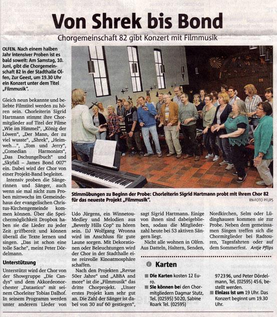 Bericht der Ruhr Nachrichten vom 30.05.17