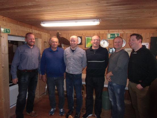 Von links: Andreas Rojer, Ulrich Bertram, Stefan Brink, Wilfried Bahns, Thorsten Wernicke und Hubert Baalmann