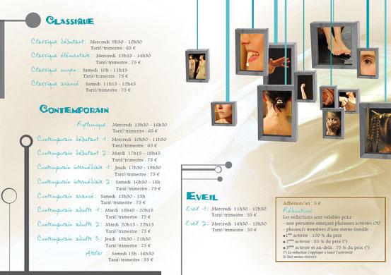 Cours Ainsi Danse Oloron : Horaires et tarifs 2011 - 2012