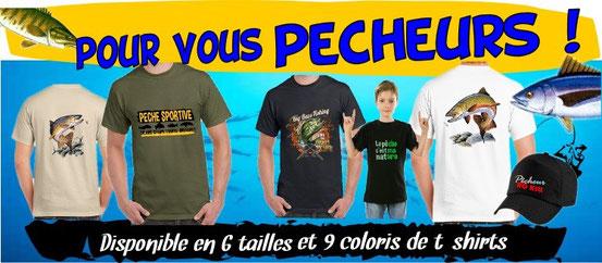 t-shirts du pêcheur, idée cadeau pêcheur