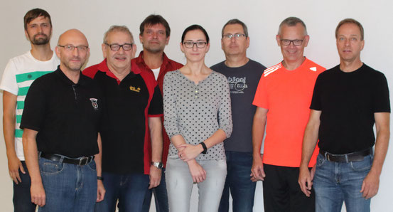v.l. Steve Scharfenberg, Knut Kallenbach, Bernd Nezold, Uwe Schottmann, Lisa Rückert, Axel Schmidt, Gerd Simon, Klaus Fischer